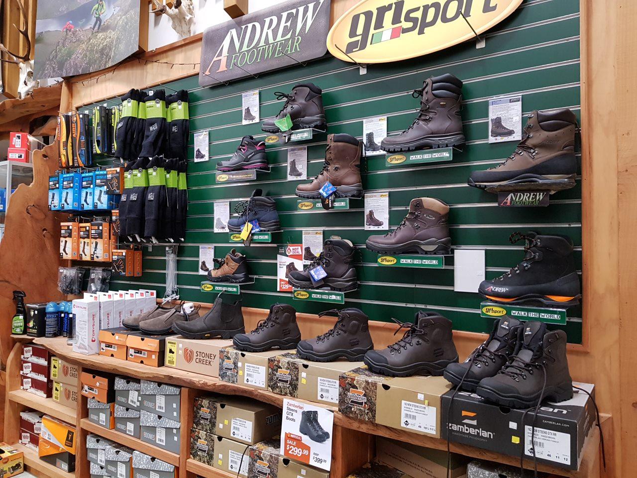 hunting&fishingの登山靴。